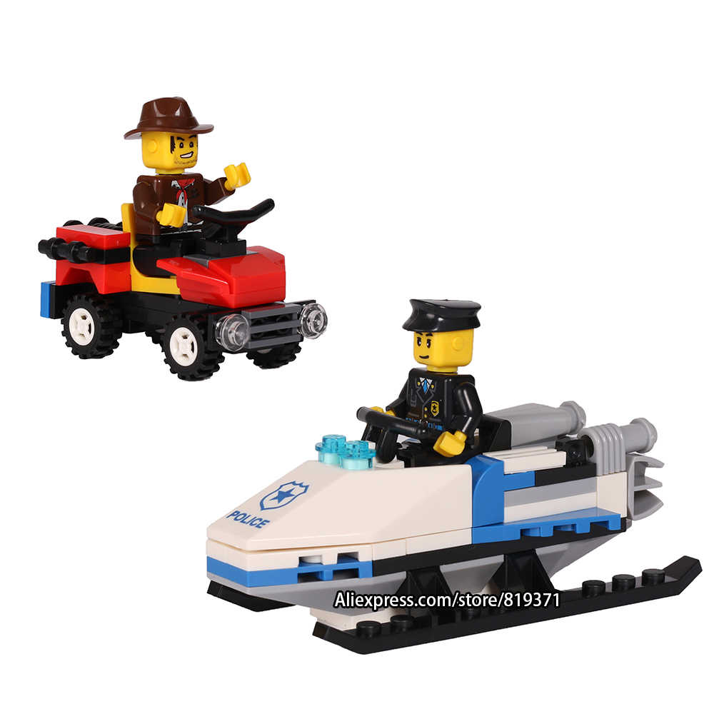 City Series Models Toys For Children Gifts Snowmobiles Surveillance Building Blocks Policeman Compatible with legoeINGlys 26016