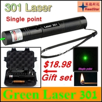 [ReadStar] 301 high power 1W Red Green Laser set Laser pointer Laser pen single point include 18650 battery & charger