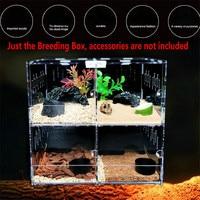 Reptile Breeding Box Transparent Acrylic Reptile Snake Box Scorpion Hatching Box