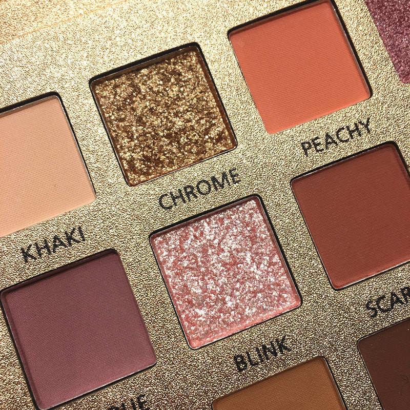 Beauty Glazed 18Colors Nude Eyeshadow Makeup Pigments Waterproof Professional Shimmer Glitter Nude Eye shadow Make up Palette  (2)