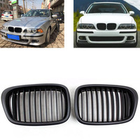 2pcs Style Car Front Black Wide Kidney Grille Grill for BMW E39 M5 series 1997 1998 1999 2000 2001 2002 2003 520i 525 530