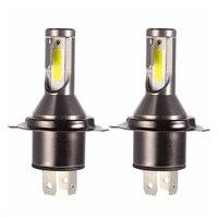 2 предмета H4 светодиодный фары для авто Conversion Kit 6000 K 26000LM светодиодный H4 лампы для автомобилей 110 W 12 V 24 V яркая лампа противотуманных фар для а...
