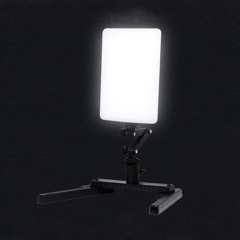 T96 LED Photographic Light Ultra Thin 5600K Ra95 Video Light Lamp with Adjustable Arm and Bracket Stand for Camera Phone Photo mini 5 5mm camera diameter dust proof and waterproof recordable video adjustable led lights video and photo browsing
