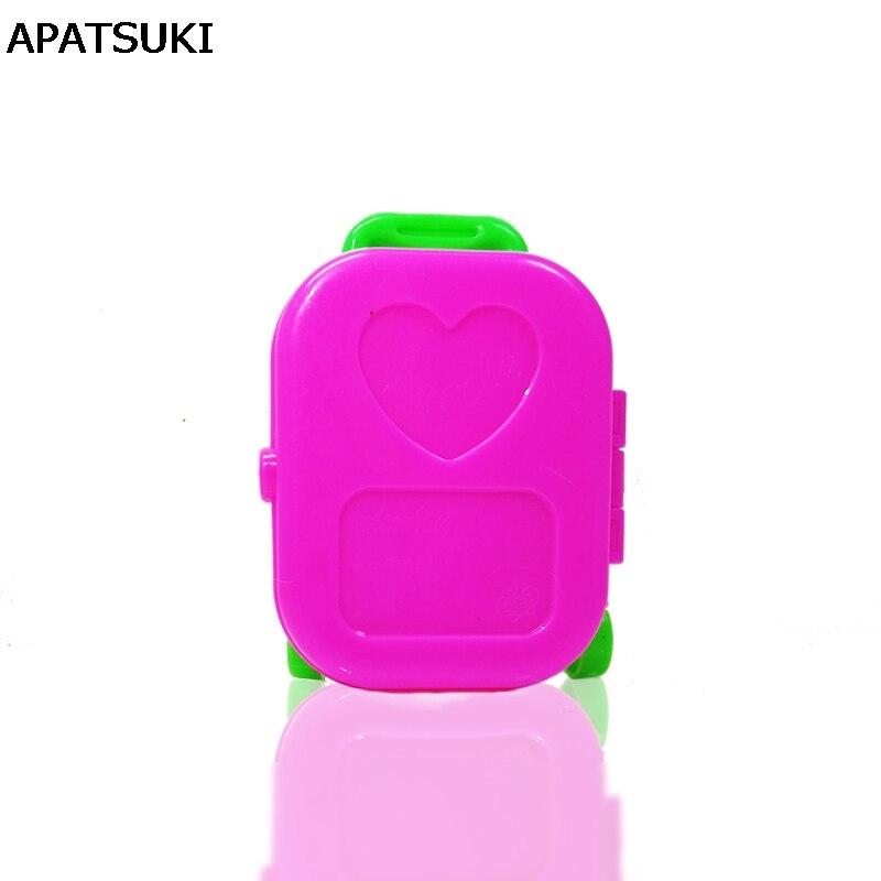 28c5656e115a5 Akcesoria Dla lalek Plastikowe 3D Śliczne Przypadku Bagażu Podróży Walizka  Bagażnik Dla Meble Dla Lalek Barbie Doll House Dla 1/6 BJD Lalki