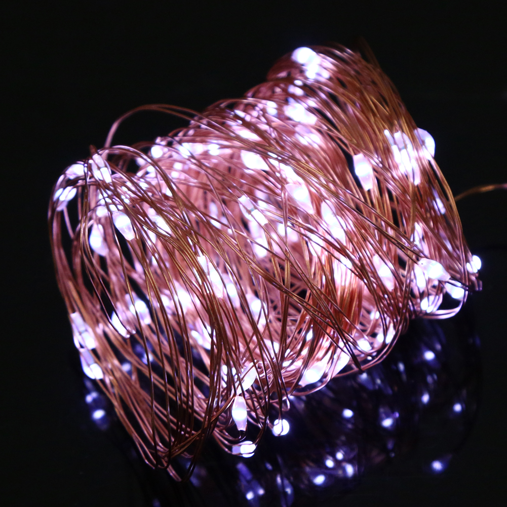 10M led string <font><b>lights</b></font> led fairy <font><b>lights</b></font> Christmas lamps <font><b>Icicle</b></font> <font><b>Lights</b></font> Xmas Wedding Party Decoration AA <font><b>Battery</b></font> Operated