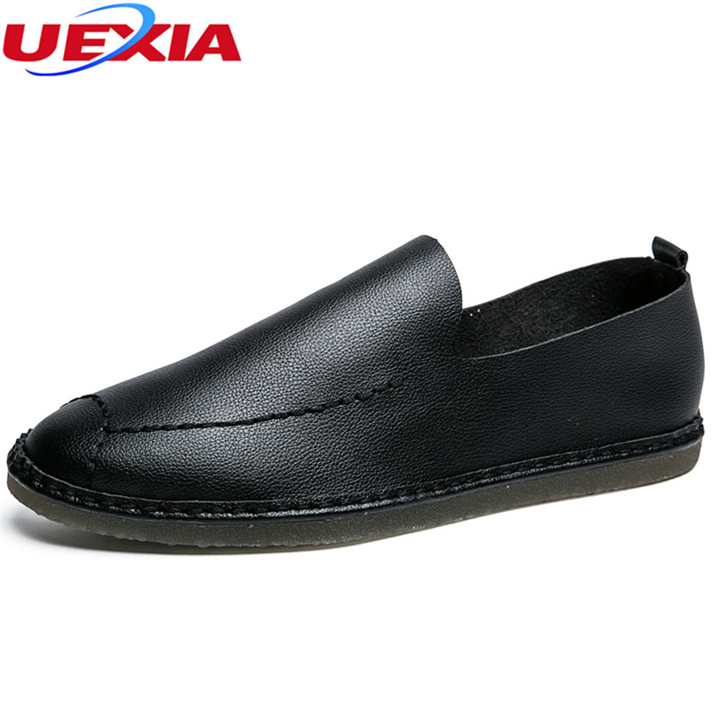UEXIA Men Shoes Slip-On Spring Loafer Comfortable Brathable Zapatos Chaussure Hombre Sapato Masculino Casual Driving Handmade fashion men spring casual shoes chaussure homme outdoor sport portable breathable anti skid mesh shoes zapatos casuales hombre