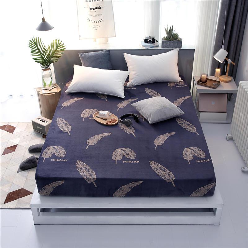 Offre spéciale 100% Polyester hiver drap de lit avec bande élastique matelas protecteur impression drap housse matelas couverture draps - 3