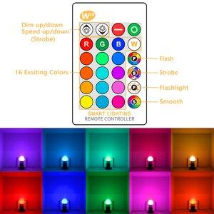 Image 2 - E27 LED 16 zmiana koloru RGB magiczny Led żarówki 5/10/15W 85 265V RGB oświetlenie punktowe lampa Led + pilot zdalnego sterowania na podczerwień LED żarówki do domu
