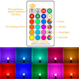 Image 2 - E27 led 16 色の変更 rgb マジック led 電球 5/10/15 ワット 85 265 v rgb led ランプスポットライト + 赤外線リモコン led 電球家庭用