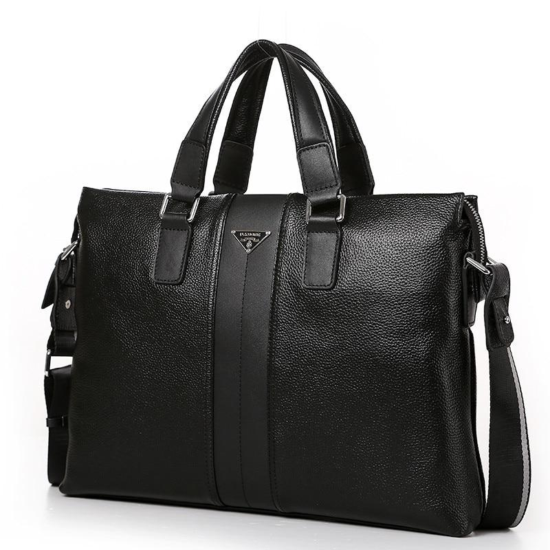 Luxury Men 100% Cowhide Handbags Shoulder Bag Business Casual Male Genuine Leather Bag Men Briefcase Laptop Men Travel Bag