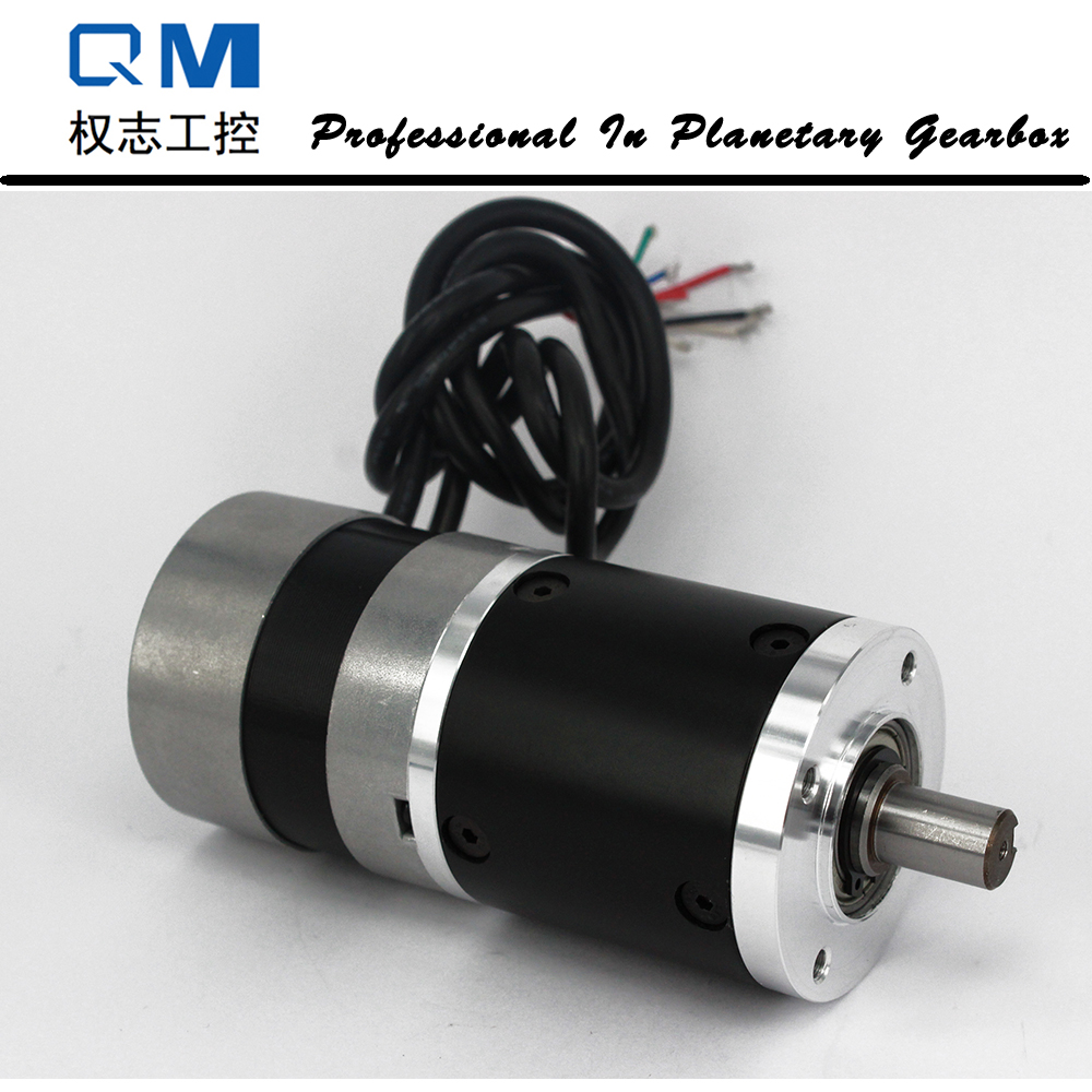 Gear dc motor planetary reduction gearbox ratio 20:1 nema 23 60W gear brushless dc motor 24V bldc motor