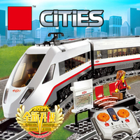 02010 610Pcs Technic Series The High Speed Passenger Train Remote Control Trucks Building Blocks Toys Kids Toys For Gift