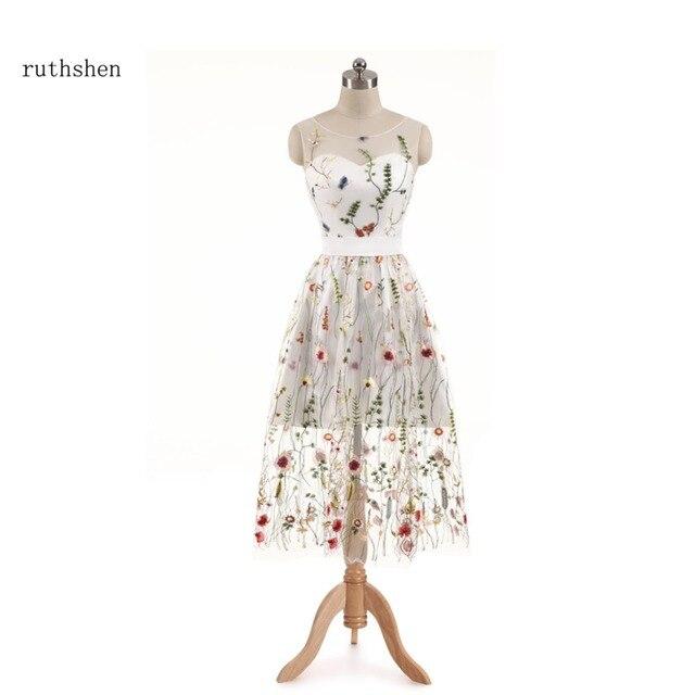 Ruthshen Formale Abschlussball kleider Blumen Stickerei Short Tee ...