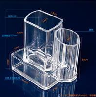Acrylic Transparent Crystal Lipstick 36 Desktop Mascara Lip Gloss Nail Polish Lattice Box Display Rack