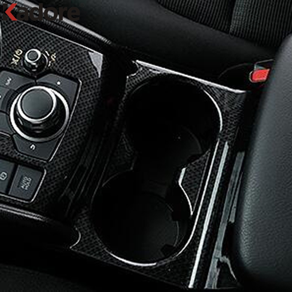For <font><b>Mazda</b></font> CX-5 <font><b>CX5</b></font> 2017 2018 <font><b>2019</b></font> KF Water Cup Holder Cover Trim Cups Frame Car Interior <font><b>Accessories</b></font> Decoration Molding Strip image