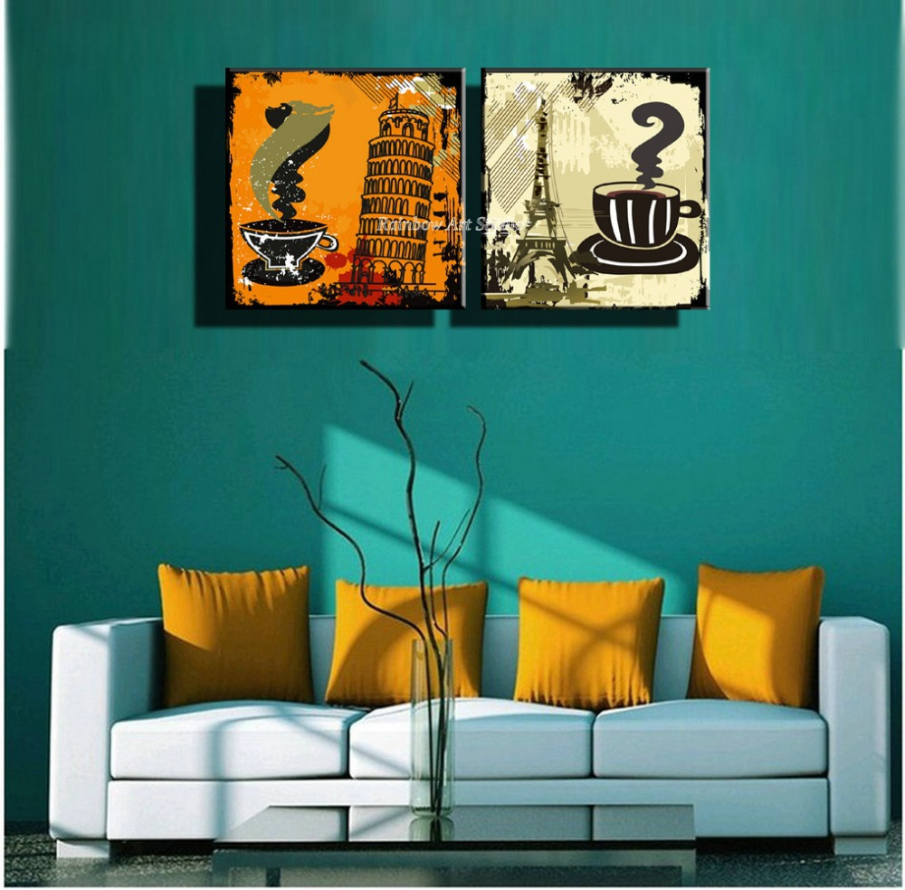 2 panel decorative famous drawing wall picture cuadros abstract ...