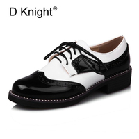 Oxfords Shoes Woman British Style Platform Oxford Shoes For Women Creepers Casual Flats Vintage Women Brogue