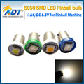 500 PCS #Ba9s #44 #47 Bayonet AC DC 6V/6.3V 1 LED 5050SMD LED Pinball Machine Light Bulb Lamp Non ghosting/anti flickering