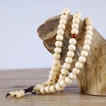 108 Beads 8mm Natural Sandalwood Buddhist Buddha Wood Prayer Knot Black Ebony Unisex Men Bracelets  Bangles For Women