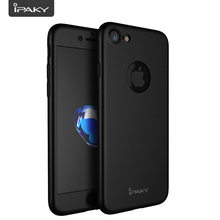 360 Case For iPhone 7, Shock Absorption IPAKY Degree 7 PC Full Body Cover + Tempered Glass Screen Protector