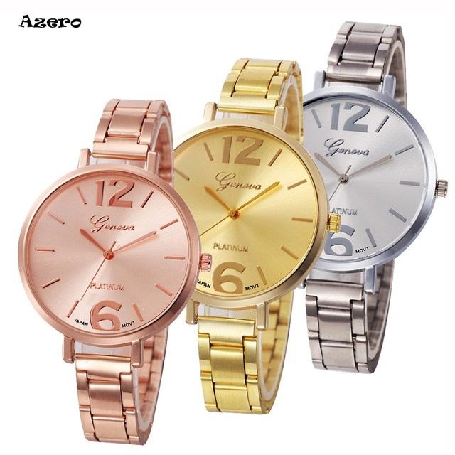 Fashion Women Crystal Stainless Steel Analog Quartz Wrist Watch Relogio Feminino