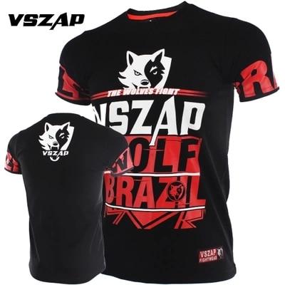 VSZAP Short Sleeve T-shirt Gym Fight MMA Combat Comprehensive Training Muay Thai Men