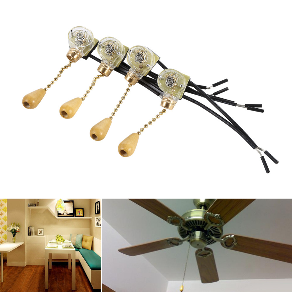 Ceiling Fans With Electrical Cords : Pcs lot fan switch universal ceiling wall light lamp