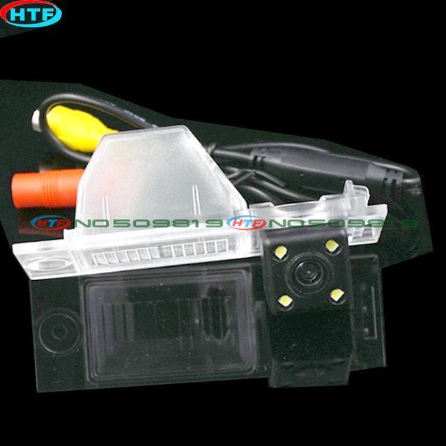 Fio do carro sem fio câmera CCD visão noturna LED para 2015 016 Hyundai IX35/new TUCSON câmera de visão traseira invertendo backup câmera wateproof