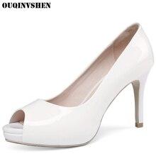 OUQINVSHEN Classic High Heels Peep Toe Pumps Round Toe Thin Heels Women Ladies Pumps Casual Fashion Stiletto heel High Heels