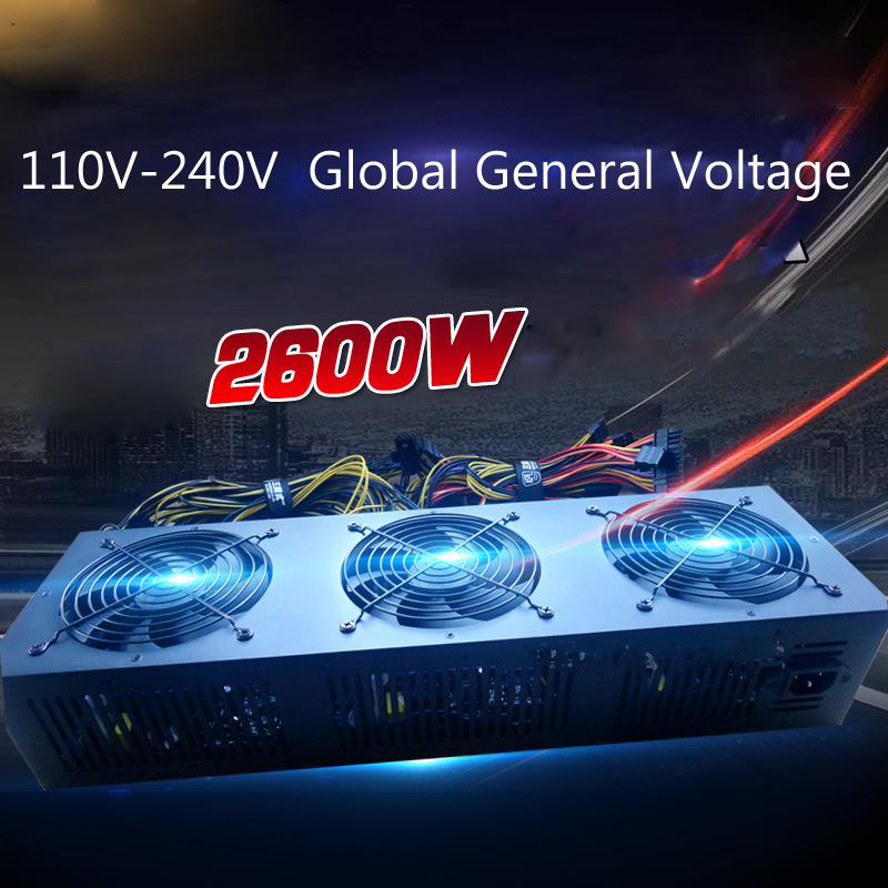 gpu mining rig ATX source Ethereum coin computer power supply Miner PSU for video card 1080 rx470 480 rx570 580 r9 370 380 ...