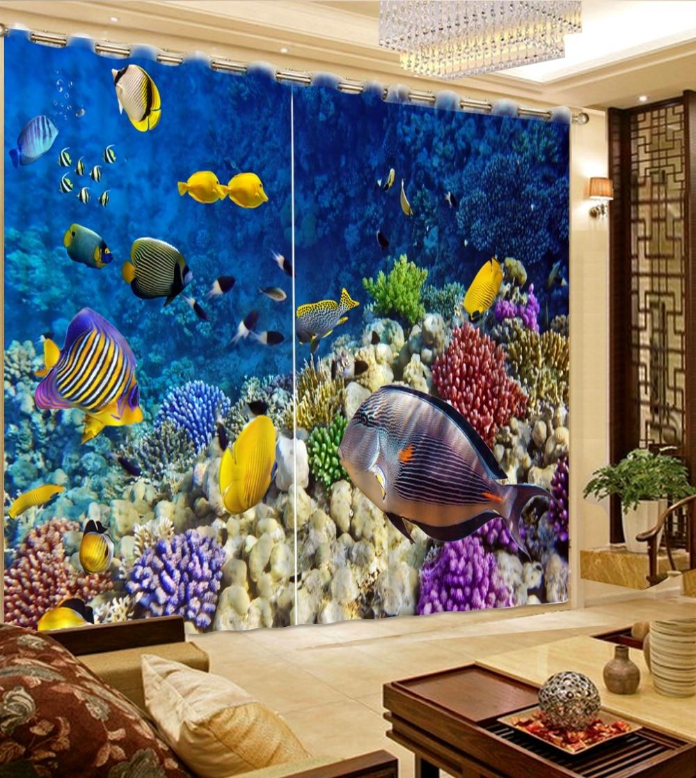3d vorhänge vorhänge für wohnzimmer 3d Die unterwasserwelt von ...