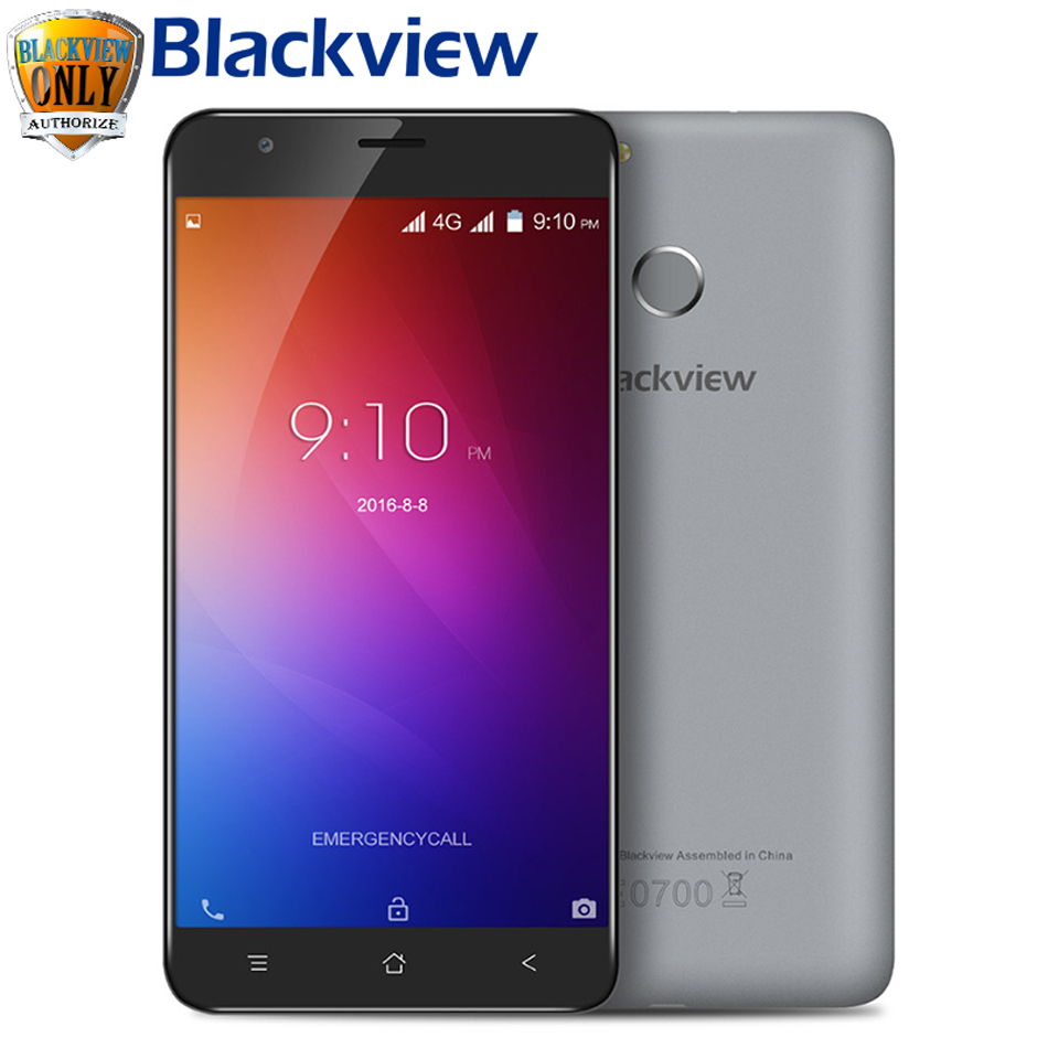 5 5 Blackview E7 Mobile phone MTK6737 Quad Core Android 6 0 4G phone 2700mah 1GB