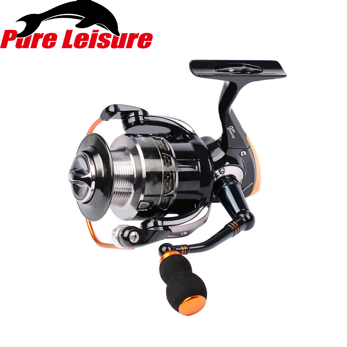 small resolution of pureleisure st1000 fishing reel parts spinning metal head reel 9bb reel spinning wheels rock fishing lure round reel 5 5 1 in fishing reels from sports