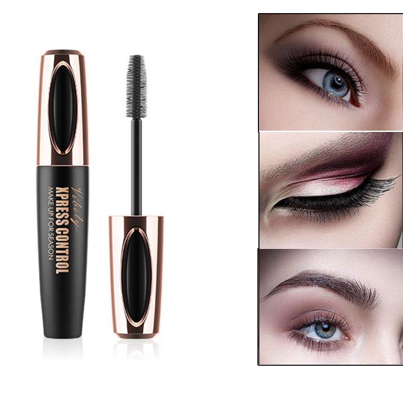 4afdd520c99 4D Silk Fiber Lash Mascara Waterproof For Eyelash Extension Black Thick  Lengthening Eye Lashes Korean Cosmetics