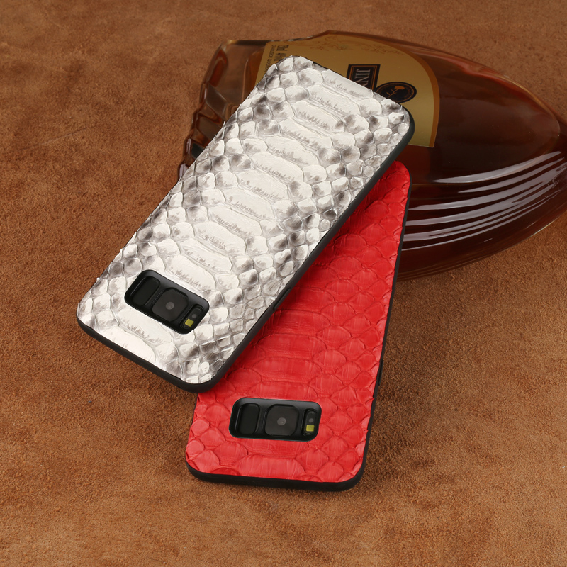 Natural luxury Python skin phone case for Samsung A70 A60 A50 All inclusive Anti fall Genuine Leather case for Samsung note 9 8