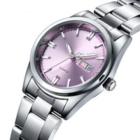 New fashion simple ladies watch casual fine steel belt ladies quartz watch