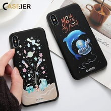 CASEIER Space Patterned Phone Case For iPhone 5 6 7 8 Plus X Soft TPU Cover For Samsung S8 Plus Note 8 S6 S7 edge Funda Capinha