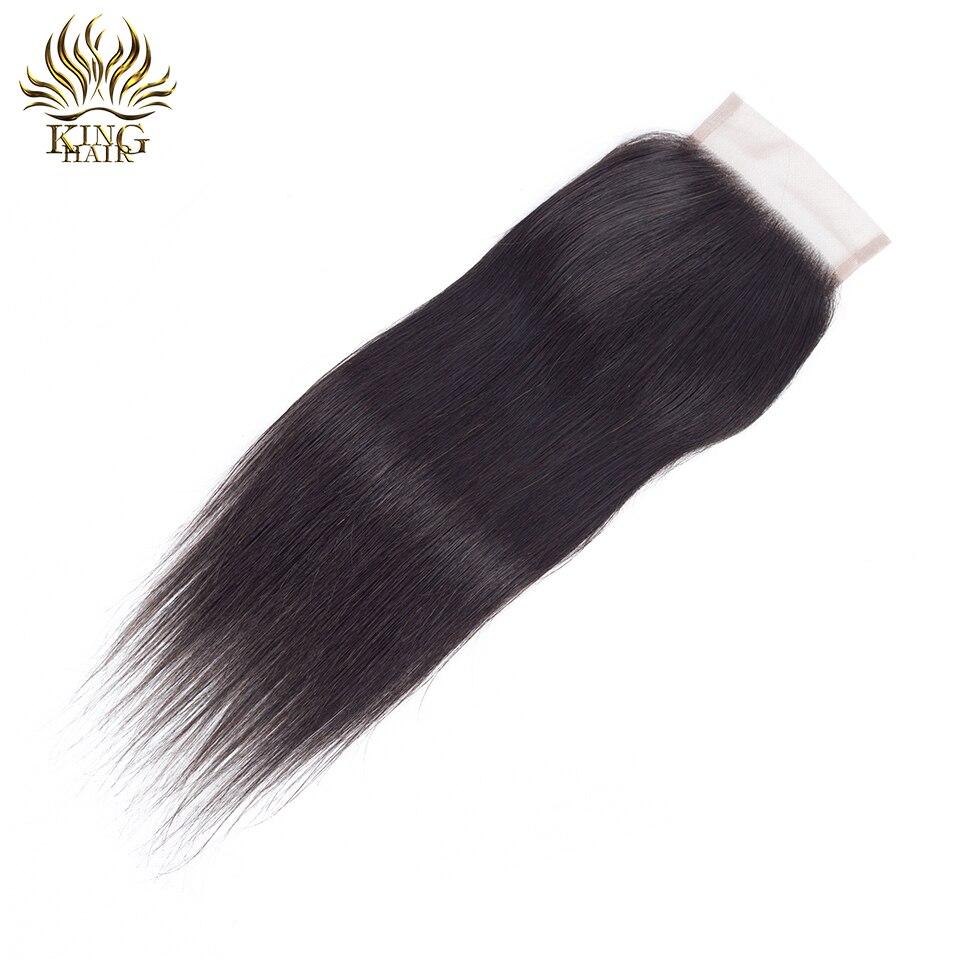 Cheveux russes Brésiliens Fermeture en dentelle droite Fermeture de - Cheveux humains (noir) - Photo 2