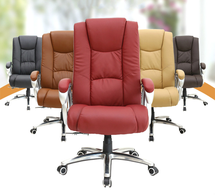 High Quality SmartElectric Massage Chair Leather Office Executive Chair Lifting Adjustable Computer Chair Rotatable Swivel Chair 240312 stereo thicker cushion household office chair high quality pu leather computer chair steel handrails