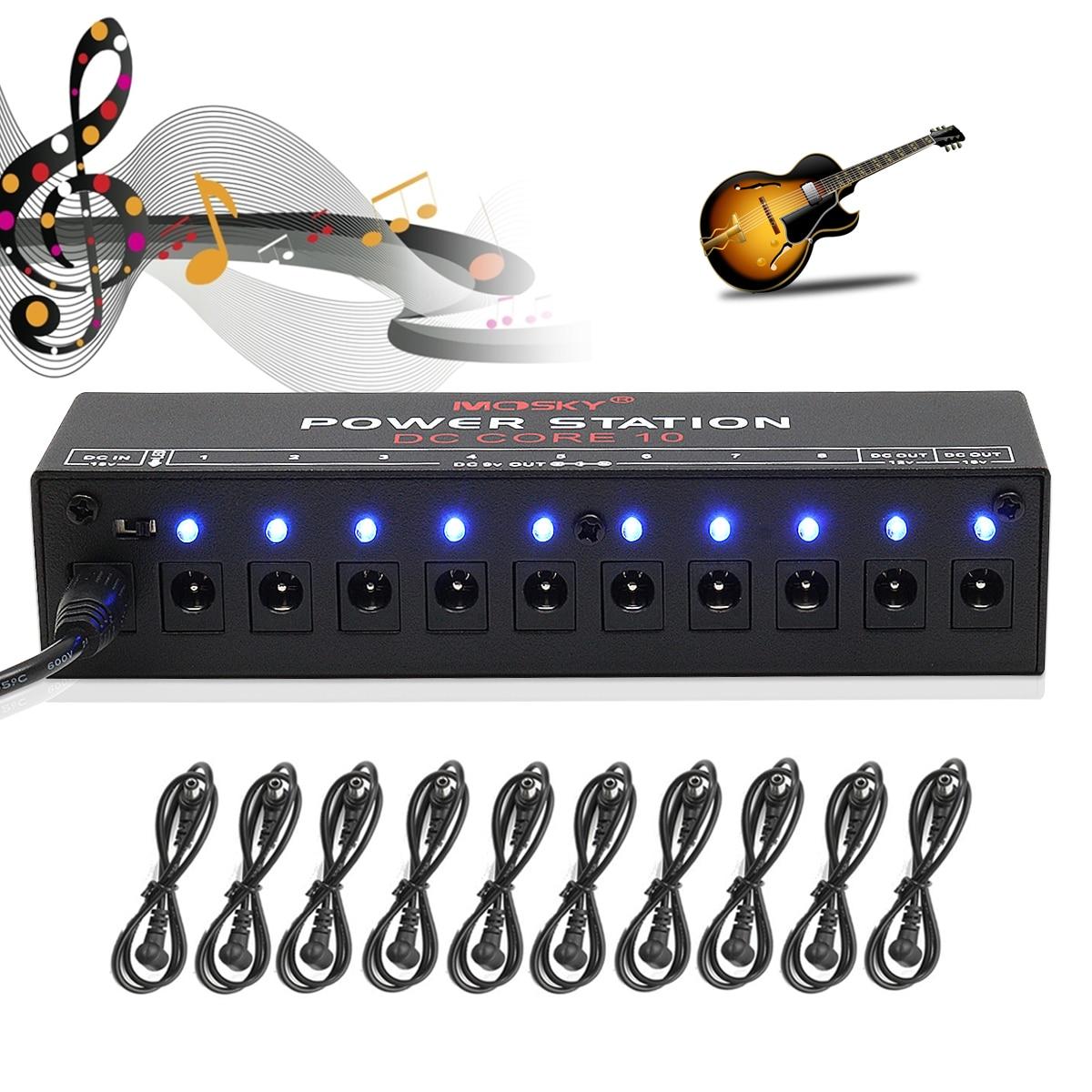 Caline 10CH Guitar Pedal Board Effect Power Supply Isolated Output 9V 12V 18V