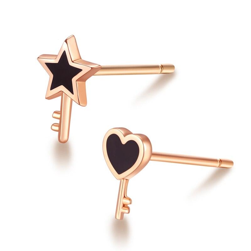 Boucles d'oreilles en or pur AU750 femmes boucles d'oreilles étoile 0.25g