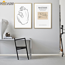 Matisse Simple Fashion Modern Vogue Sketch Figures Style Home Decoration Paintings Poster and Prints Canvas Art Wall Picture
