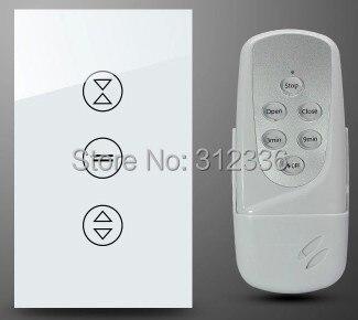Livraison gratuite 120 MM 2 PCS/LOT = 1 PC commutateur + 1 PC télécommande interrupteur verre tactile mur interrupteur panneau rideau interrupteur trempe verre