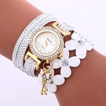 Brand Luxury Gold Crystal Rhinestone Bracelet Watch