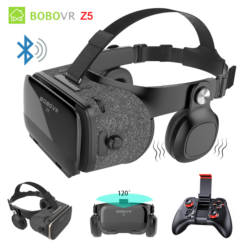 BOBOVR Z5 Bluetooth Binocular 3D Glasses Immersive VR Box 3D Virtual Reality Goggles Shock Headset For iPhone 7 Plus Smartphones vr boss fov120 immersive 3d vr virtual reality headset ipd focus adjustable volume control call answering