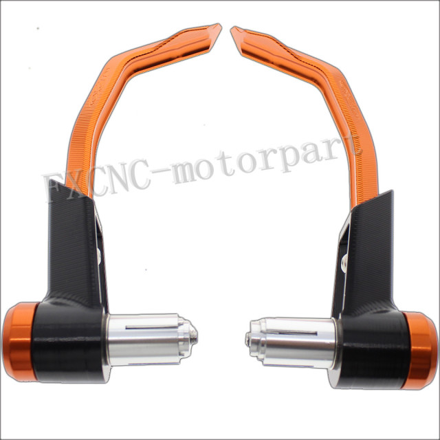 FXCNC CNC Brake Clutch Lever Protective Guards Bar Ends Motorcycles Fit For Fit For KTM 1290 SUPER DUKE 2014 - 2015 Orange