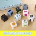 11 colores Cubo Mágico Fidget un vinilo juguete de escritorio 2016 Nueva Fidget Cubo anti irritabilidad cobe juguete mágico Divertido regalo de Navidad stock