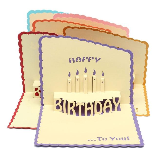 Popular cake 3d paper cards handmade pop up happy birthday greeting popular cake 3d paper cards handmade pop up happy birthday greeting card with envelope handcrafted kirigami m4hsunfo