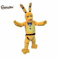 CosplayDiy Unisex Mascotte Kostuum Vijf Nachten Op Freddy's Golden Bonnie Kostuums Stripfiguur Cosplay Voor Halloween Party