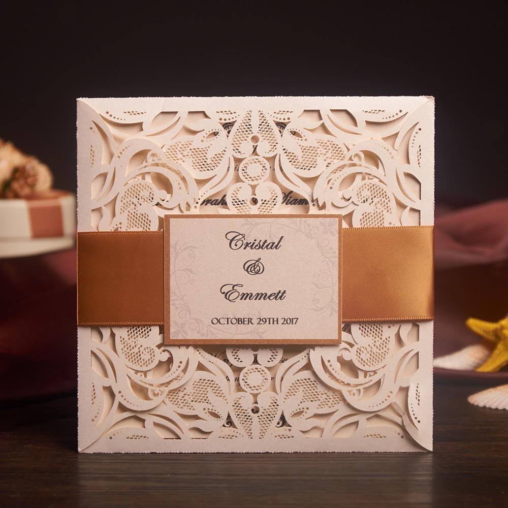 laser cut wedding invitations card and rsvp elegant